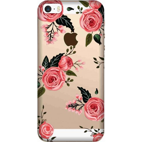 Pink Florals Clear case for Apple Iphone 5