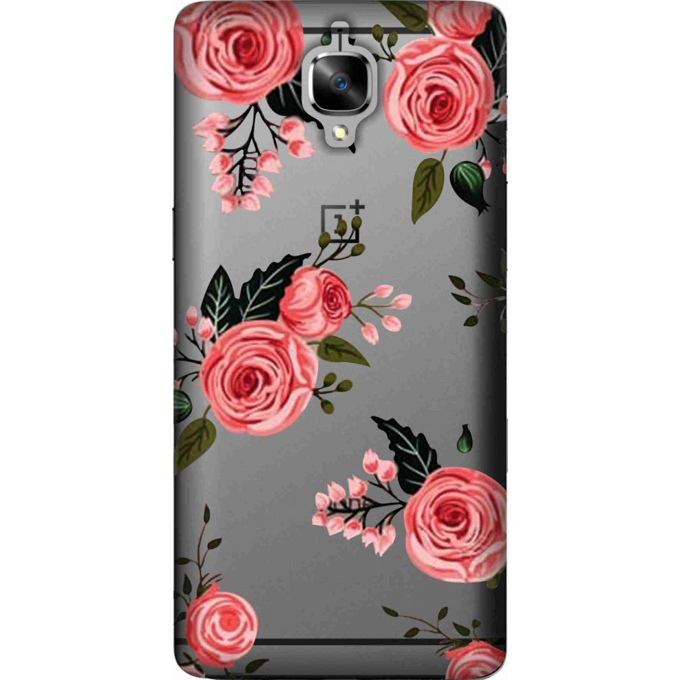 low priced c9198 c3f06 Pink Florals Clear case for oneplus 3t - OnePlus 3T - ONEPLUS ...