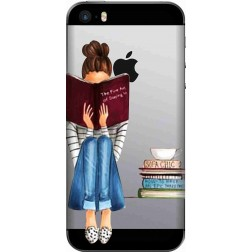Bookworm & Coffee Clear Case for Apple iPhone 5