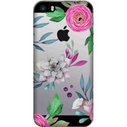 Mixed Florals Clear Case for Apple Iphone 5S