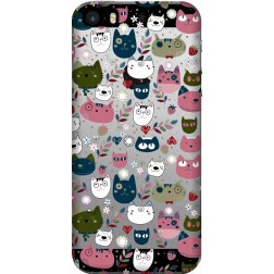 Cute Lil Cats Clear  Case for Apple iphone 5S