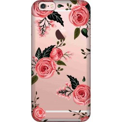 Pink Floral Clear Case for Apple iphone 6