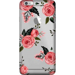 Pink Floral Clear Case for Apple iphone 6 Plus