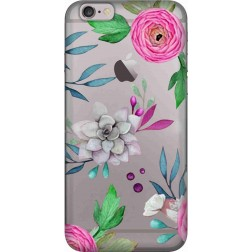 Mixed Florals Clear Case for Apple iphone 6