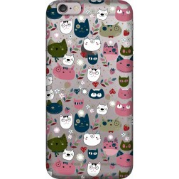 Cute Lil Cats Clear Case for Apple iphone 6