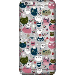 Cute Lil Cats Clear Case for  Apple Iphone 6 Plus