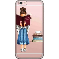 Bookworm & Coffee Clear Case for Apple iPhone 6
