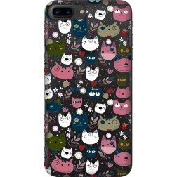 Cute Lil Cats Clear Case for  Apple iphone 7 Plus
