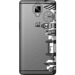 London city clear case for oneplus 3