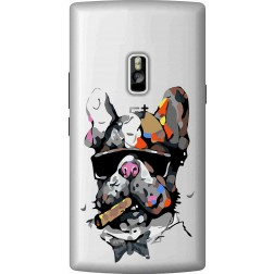 Artistic Painted Bulldog Clear Case for Oneplus 2