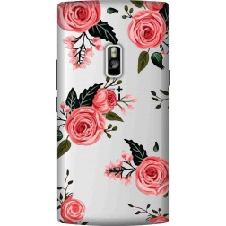 Pink Floral Clear Case for Oneplus 2