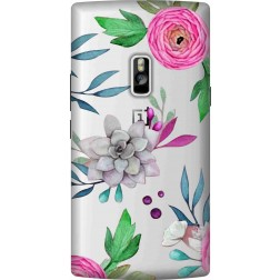 Mixed Florals Clear Case for Oneplus 2