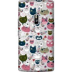 Cute Lil Cats Clear  Case for Oneplus 2