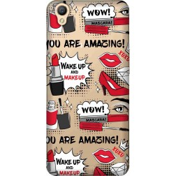Wake Up & Make Up Clear Case for Oppo A37