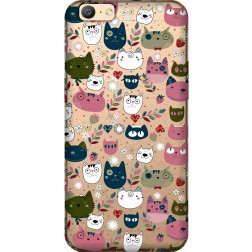 Cute Lil Cats Clear case for Oppo A57