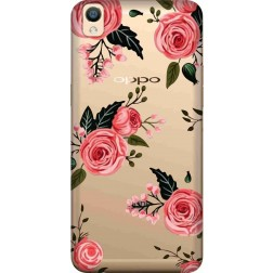 Pink Florals Clear Case for Oppo F1 Plus