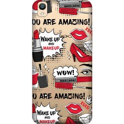Wake Up & Make Up Clear Case for Oppo F1 Plus