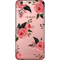 Pink Florals Clear Case for Oppo F1s
