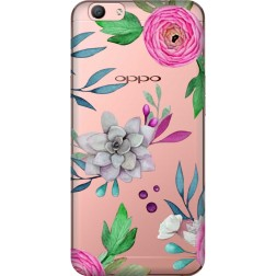 Mixed Florals Clear Case for Oppo F1s