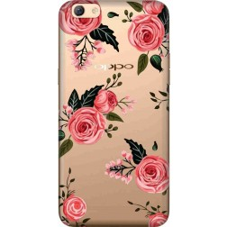 Pink Florals Clear Case for Oppo F3 Plus
