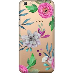 Mixed Florals Clear Case for Oppo F3 Plus