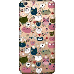Cute Lil Cats Clear case for Oppo F3 Plus