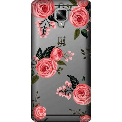Pink Florals Clear case for oneplus 3