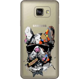 Artistic Painted Bulldog Clear Case for Samsung Galaxy A7 2016