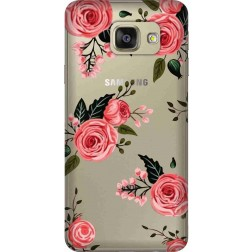 Pink Florals Clear Case for Samsung Galaxy A7 2016