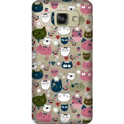 Cute Lil Cats Clear Case for Samsung Galaxy A7 2016