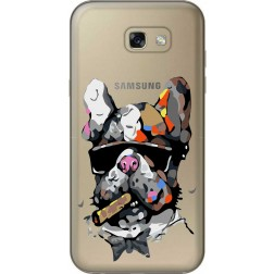 Artistic Painted Bulldog Clear Case for Samsung Galaxy A7 2017