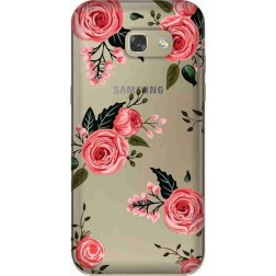 Pink Florals Clear Case for Samsung Galaxy A7 2017