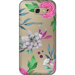 Mixed Floral Clear Case for Samsung Galaxy A7 2017