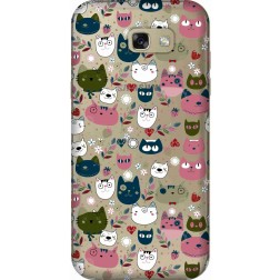 Cute Lil Cats Clear case for  Samsung Galaxy A7 2017