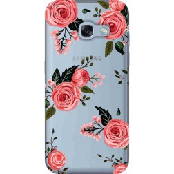 Pink Florals Clear Case for Samsung Galaxy A3 2017