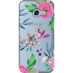 Mixed Florals Clear Case for Samsung Galaxy A3 2017