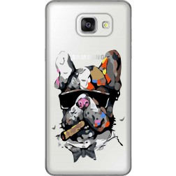 Artistic Painted Bulldog Clear Case for Samsung Galaxy A5 2016