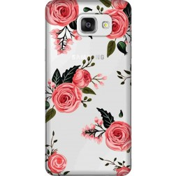 Pink Florals Clear Case for Samsung Galaxy A5 2016