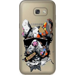Artistic Painted Bulldog Clear Case for Samsung Galaxy A5 2017