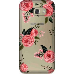 Pink Floral Clear Case for Samsung Galaxy A5 2017
