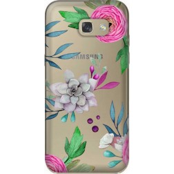 Mixed Floral Clear Case for Samsung Galaxy A5 2017