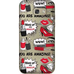 Wake Up & Make Up Clear Case for Samsung Galaxy A5 2017