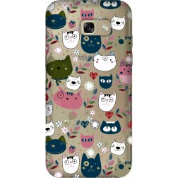 Cute Lil Cats Clear case for Samsung Galaxy A5 2017