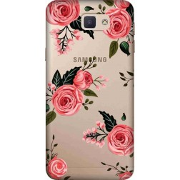 Pink Florals Clear Case for Samsung Galaxy J7 Prime