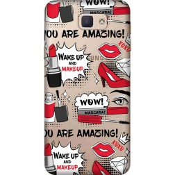 Wake Up & Make Up Clear Case for Samsung Galaxy J7 Prime