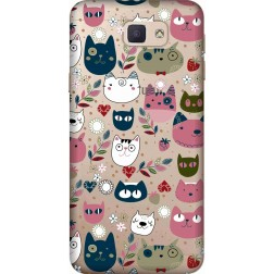 Cute Lil Cats Clear case for Samsung Galaxy J7 Prime