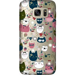 Cute Lil Cats Clear Case for Samsung Galaxy S7
