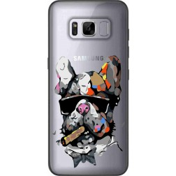 Artistic Painted Bulldog Clear Case for samsung Galaxy S8