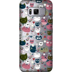 Cute Lil Cats Clear Case for Samsung Galaxy S8 Plus