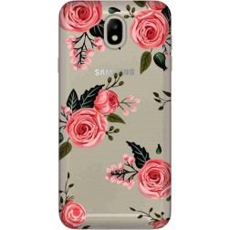 Pink Florals Clear Case for Samsung Galaxy J7 2017
